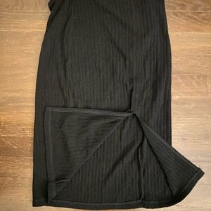 WILFRED FREE Ribbed BLACK A-Line Skirt Sm CHIC ☘️